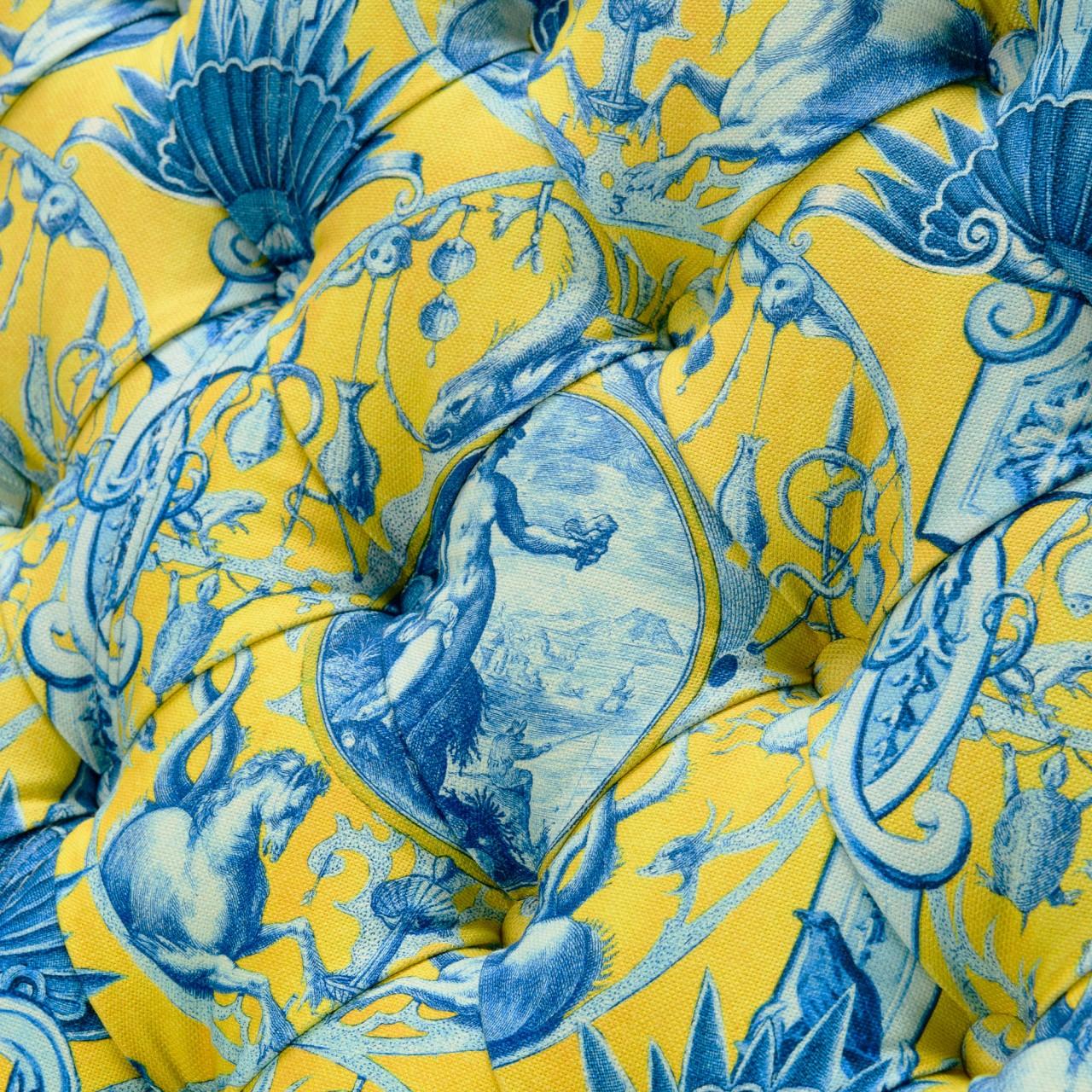 TRUMAN TUFTED SOFA - CALYPSO Fabric