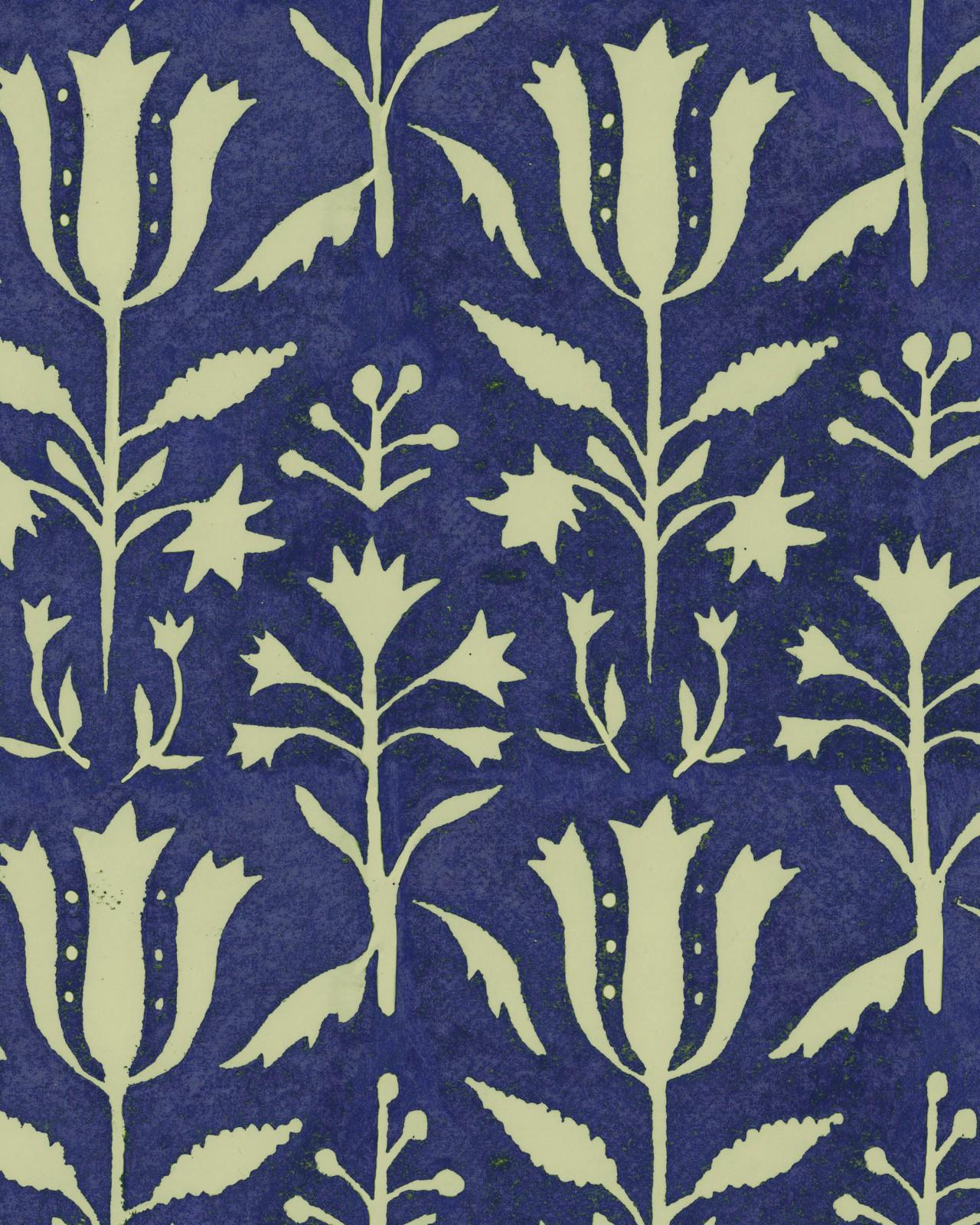 TULIPAN Indigo Wallpaper