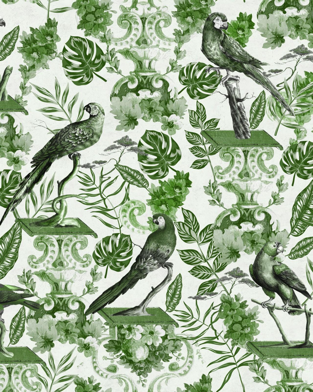 LA VOLIERE GREEN Wallpaper