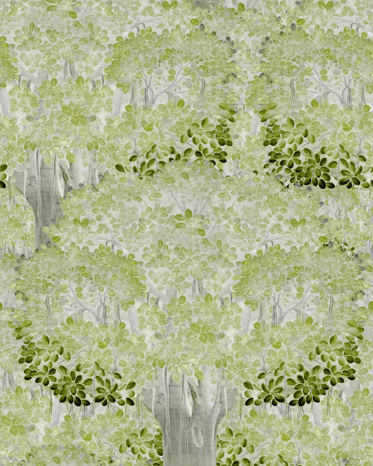 SAVAGE LEAVES Green Wallpaper