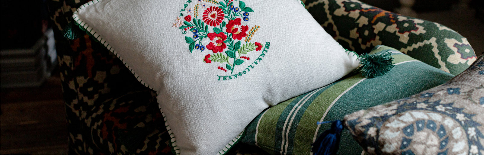Embroidered Cushions